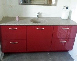 Menuiserie Gruet - Châtillon-sur-Seine - Fabrication d'un meuble de salle de bain