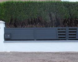 Menuiserie Gruet - Châtillon-sur-Seine - Portail, portillon et clôture aluminium remplissage barreau