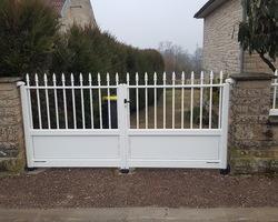 Menuiserie Gruet - Ampilly-le-Sec - Portail et portillon battant aluminium et clôture aluminium