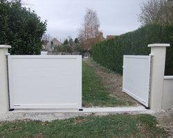 Menuiserie Gruet - Châtillon-sur-Seine - Portail battant aluminium