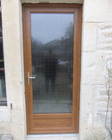 Menuiserie Gruet - Châtillon-sur-Seine - Porte d'entrée PVC 1 vantail vitrage feuilleté