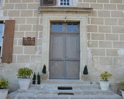 Menuiserie Gruet - Pothières - Porte d'entrée battante chêne sur mesure 2 vantaux