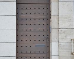 Menuiserie Gruet - Châtillon-sur-Seine - Porte d'entrée artisanale chêne 1 vantail