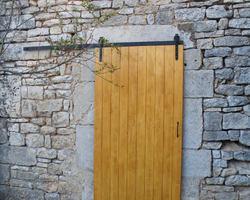 Menuiserie Gruet - Châtillon-sur-Seine - Porte extérieure bois coulissante
