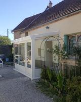 Menuiserie Gruet - Montliot-et-Courcelles - Véranda aluminium laqué double vitrage