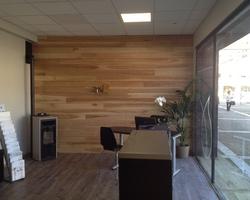 Menuiserie Gruet - Châtillon-sur-Seine - Agencement Commerce : bardage intérieur